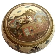 Vintage Hand-Painted Wooden Souvenir Box
