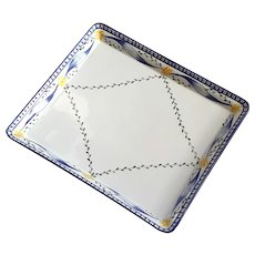 Large Tiffany & Co Faience Glazed Pottery Trellis Tray