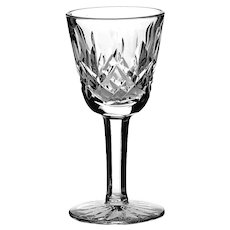 Set Of Six Waterford Crystal Lismore Small Liqueur Cocktail/Cordial Glasses