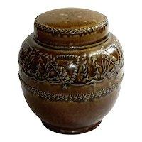 Reinhold Merkelbach Salt Glazed Pottery Tobacco Jar