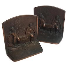 Antique Copper Finished Cast Iron Pirate Bookends