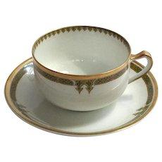 Set Of Five Haviland Limoges Porcelain Cups And Saucers