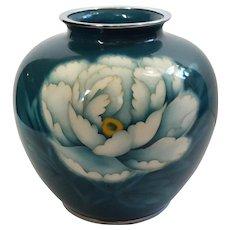 Vintage Japanese Ando Cloisonne Peony Vase