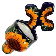 Mexican Talavera Pottery Holy Water Font