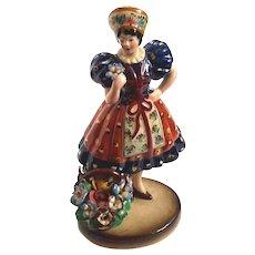 Vintage Italian Trevir Vencenza Pottery Figurine