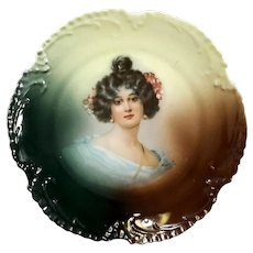 Marseille Z.S. & Co Bavaria Porcelain Portrait Plate