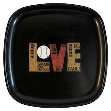 Vintage Couroc Of Monterey LOVE Tray
