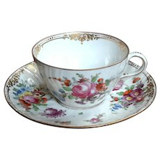 19th Century Dresden Porcelain Cup And Saucer