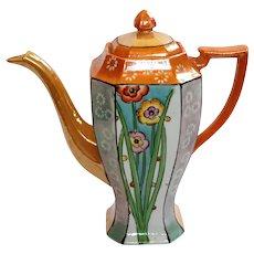 Art Deco Japanese Lusterware Porcelain Teapot