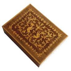 Vintage Italian Inlaid Wood Marquetry Box