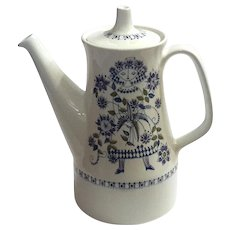 Figgjo Norway Lotte Porcelain Coffeepot By Turi Gramstad Oliver