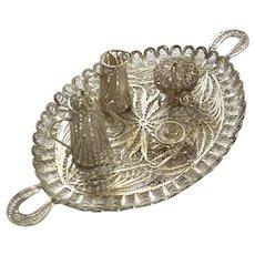 Venetian Silver Filigree Tea Set