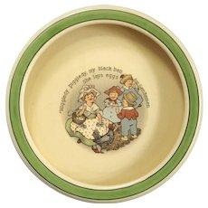 Roseville Pottery Child's Nursery Rhyme Bowl