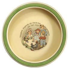 Roseville Pottery Child's Nursery Rhyme Bowl