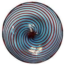 Venetian Spiral Glass Bowl
