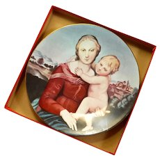 Haviland Limoges Porcelain Madonna And Child Plate