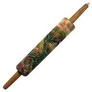 Vintage Folk Art Painted Wood Rolling Pin