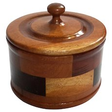 Vintage Hand-Crafted Geometric Wooden Box