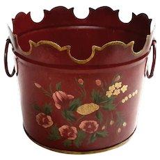 Vintage French Toleware Cachepot