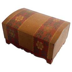 Folk Art Painted Wood Box
