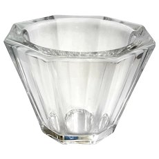 Orrefors Crystal Octagon Bowl