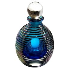 Iridescent Art Glass Perfume Bottle