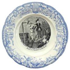 Antique French Creil & Montereau Porcelain Plate No.7