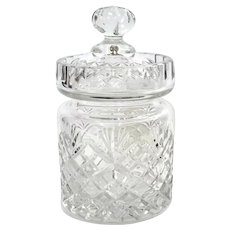 Vintage Cut Crystal Covered Jar