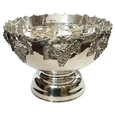 Silver Plated Punch Bowl Wine And Champagne Cooler