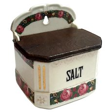 Antique Czechoslovakian Porcelain Salt Box