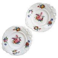 Pair Of 19th Century Old Paris Porcelain Desert Serving Plates