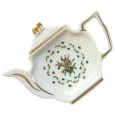 Raynoud Limoges Porcelain Tea Bag Tray