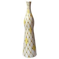 Mid-Century Vintage Harlequin Pottery Vase