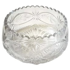 Antique Czech Cut Crystal Bowl