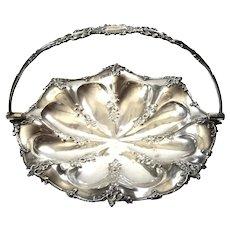 Victorian Silverplated Handled Pedestal Basket