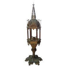 19th Century Gothic Revival Gilt Metal MONSTRANCE