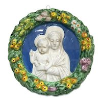 Madonna And Child Della Robia Plaque