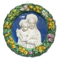 Madonna And Child Della Robia Plaque