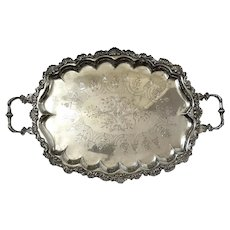 Silverplated Handled Serving Tray