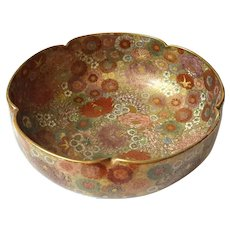 Japanese Koshida Kyoto Satsuma Hand-Painted Thousand Flowers Bowl