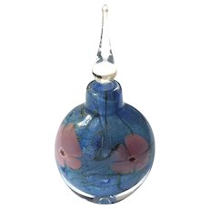Signed VANDERMARK Art Glass Perfume Bottle