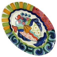 Vicki Carroll Pottery Splish Splash Fish Platter
