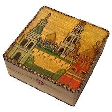 Vintage Russian Wood Box
