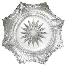 Mid-Century Modern Gobel West German Crystal Ashtray