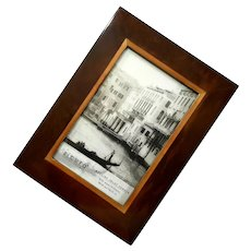 Sicura Italian Inlaid Wood Picture Frame