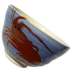 Japanese Porcelain Rice Bowl With Lobster