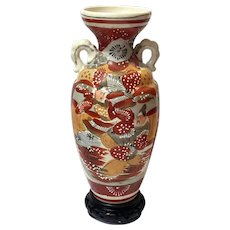 Hand-Decorated  Japanese Satsuma Vase