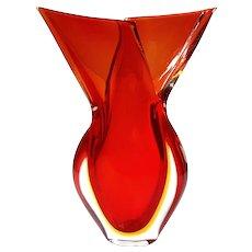 Venetian Murano Art Glass Vase