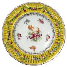 Czechoslovakian Pierced Porcelain Floral Plate