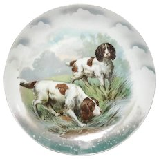 Antique German Porcelain Dog Plate